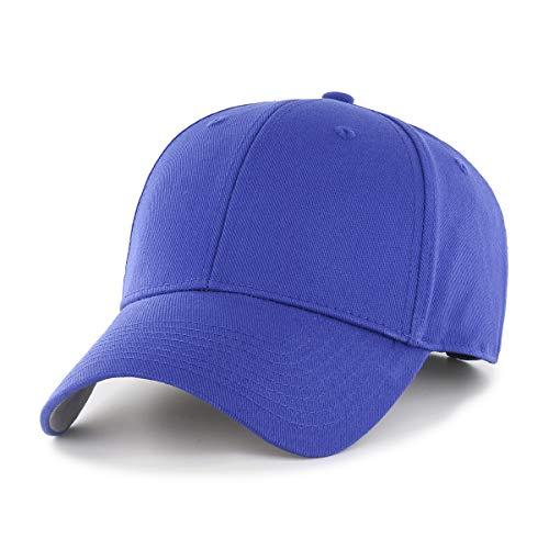 (OTS Classic Blank Mens Classic All-Star Adjustable HatClassic All-Star Adjustable Hat, Royal, One Size)