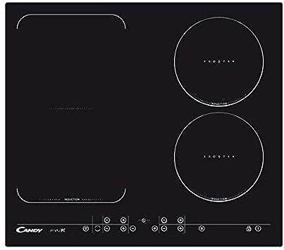 Candy cfid 36 WiFi-encimera de inducción-Ancho 60cm-conexión Wi-Fi-Zona Flexible + 2 Zonas cocción Circulares-Vidrio y cerámica, Color Negro, 7200 W, 15 Velocidades