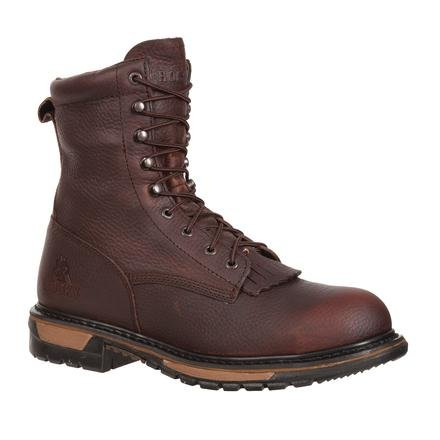 Lacer Steel Toe Electrical Hazard - Rocky FQ0006717 (L) RideLcr Steel Toe Waterproof WIDE 10 Western Shoes