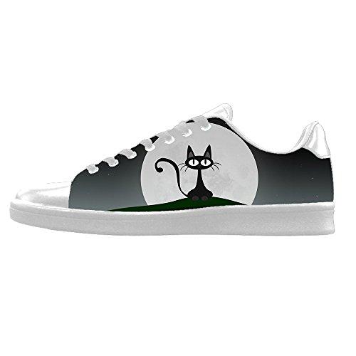 Alto In Ginnastica Lacci Delle Gatto Sopra Da Canvas Custom Shoes Men's Le Tela Fumetto I Di Scarpe Del wPffZv8W0