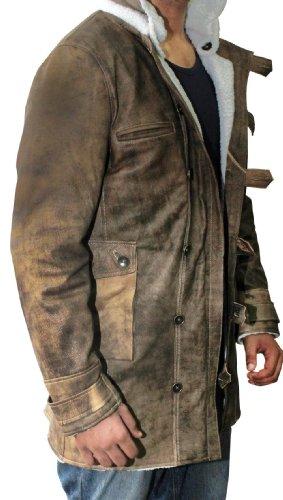 hot sale 2016 Distressed Brown Real Leather Coat Men Sheepskin