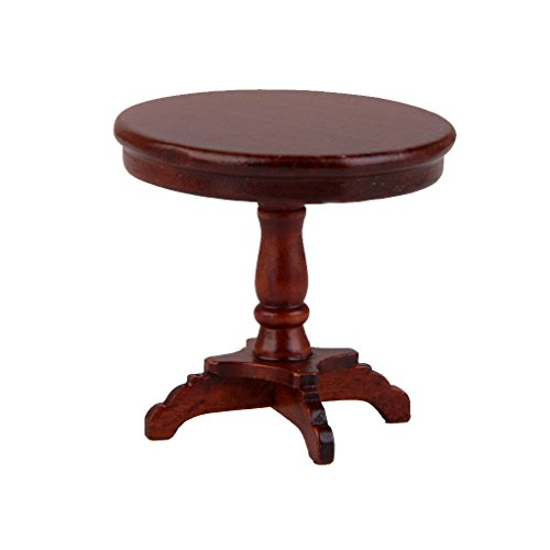 1/12 Dollhouse Wooden Furniture Miniature Round Table
