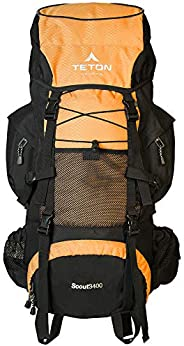 TETON Sports Scout 3400 Internal Frame Backpack; High-Performance Backpack for Backpacking, Hiking, Camping