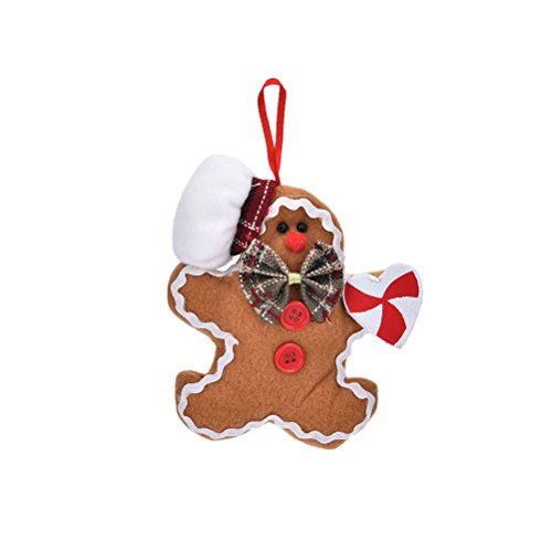 UNAKIM--Christmas Gingerbread man Ornaments Festival Xmas Tree Hanging Decor Marked (Krampus Costume For Sale)
