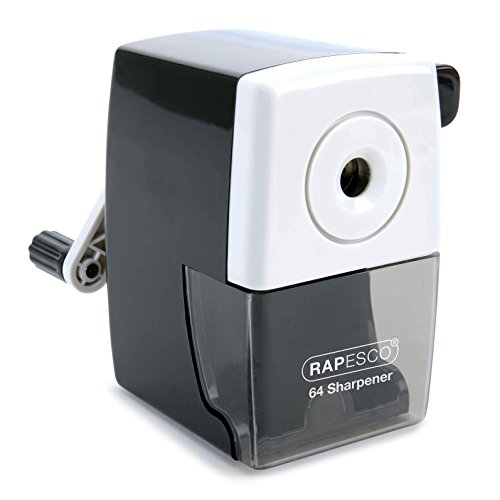 Rapesco 64 Desk Top Pencil Sharpener, Black (R64000B2)