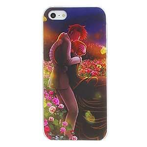 WQQ Amantes románticos del caso del patrón de la PC dura para el iPhone 5/5S