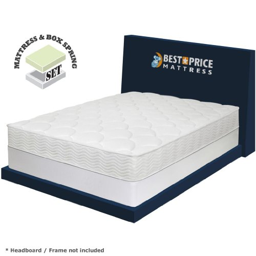 best price mattress 8 icoil spring mattress new innovative box spring set twin white. Black Bedroom Furniture Sets. Home Design Ideas