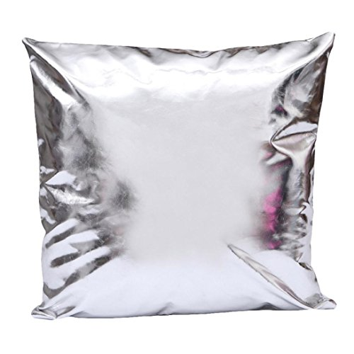 Sunward Soft Faux Leather Square Decorative Throw Pillow Case Cushion Cover For Couch and Sofa 16.516.5