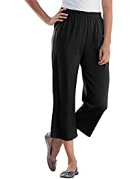 Women's Plus Size Petite 7-Day Knit Capris