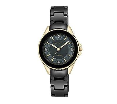 Anne Klein Diamond Accented Ceramic Bracelet Watch