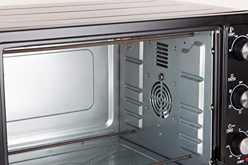 Jata HN945 Horno de Sobremesa con 4 Funciones Rotisserie Horno Grill y Convección con Capacidad de 45 l Luz interior Bandeja y Parrilla Medidas Externas 56 x 37 x 35,5 cm