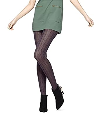 9ed5a372cb63f Hue Women's Bold Cable Sweater Tights at Amazon Women's Clothing store: