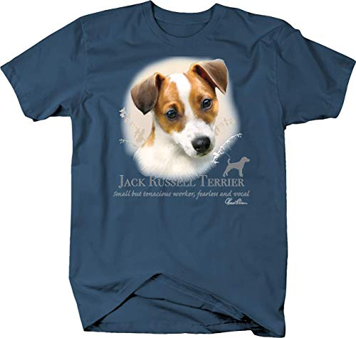 (Cute Jack Russell Terrier Dog Head Looking Shirt Quote Tshirt - 3XL)