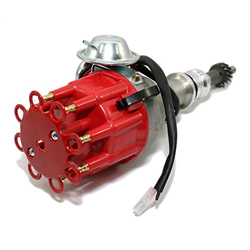 Assault Racing Products 1130211 for Small Block Ford Ready to Run Complete Red Cap Electronic Distributor SBF 289 302