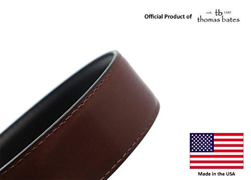 Metal Free Travel Belt (Large (40-42) Black/Brown by Thomas Bates (Image #3)