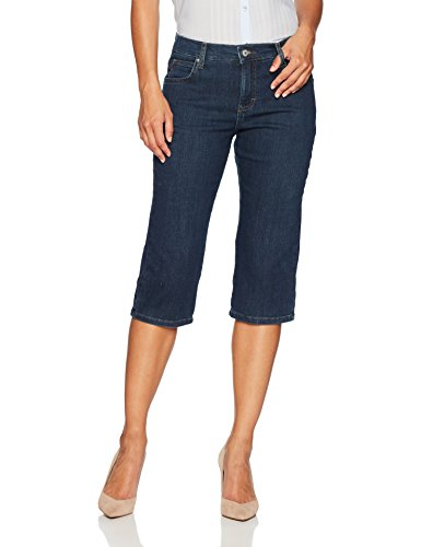 LEE Women's Petite Relaxed Fit Capri Pant, Mysterious, 10 ()