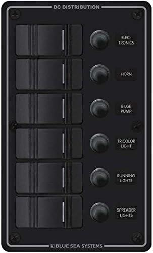 Blue Sea Boat Marine 6 Switch Electric Fuse /& Contura Switch Panel Vertical