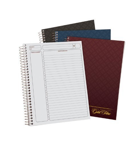 Ampad Gold Fibre, Project Planner, Assorted Color Covers, 9.5 x 7.25, 84-Sheets, 1-Each by Esselte Corporation