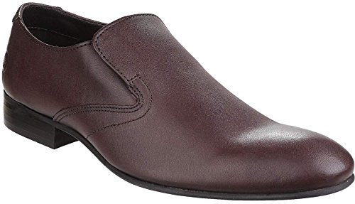 Base London Capital Braunes Leder Herren Formal Slip On Schuhe