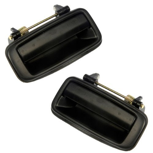 - Pair of 88-92 Corolla Prizm Rear Outside Outer Exterior Black Door Handles