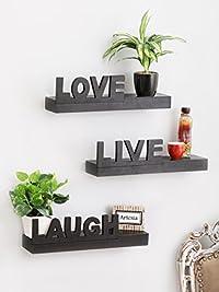 Artesia Floating Wall Shelf with 3 Shelves