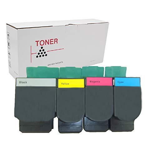 X543dn Color Laser - Hehua Compatible Lexmark C544X2KG C544X2CG C544X2MG C544X2YG Toner Cartridge Extra High Yield Replacement for Lexmark C544 C544DN C546 C546DTN X543 X543DN X544 X546 X546DTN X548 (1 Set)