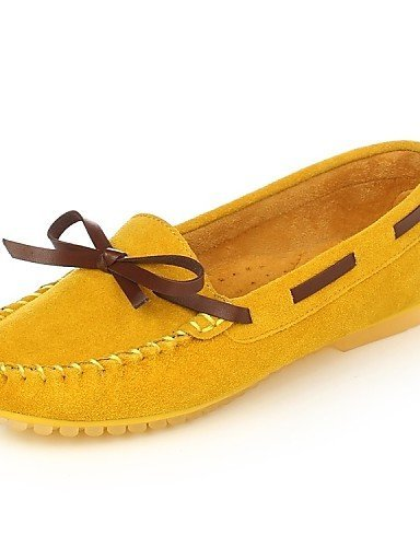 ShangYi Damenschuhe - Bootsschuhe - Kleid / Lässig - Wildleder - Flacher Absatz - Komfort / Rundeschuh -Schwarz / Blau / Gelb / Rosa / Lila / Pink