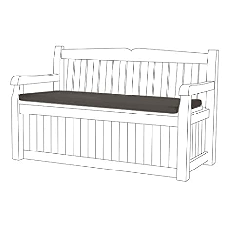 Brilliant Gardenista Grey Water Resistant Bench Pad Only For Keter Iceni Eden Garden Storage Benches Andrewgaddart Wooden Chair Designs For Living Room Andrewgaddartcom