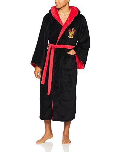 Harry Potter Gryffindor Adult Fleece Hooded Bathrobe (One Size) ()