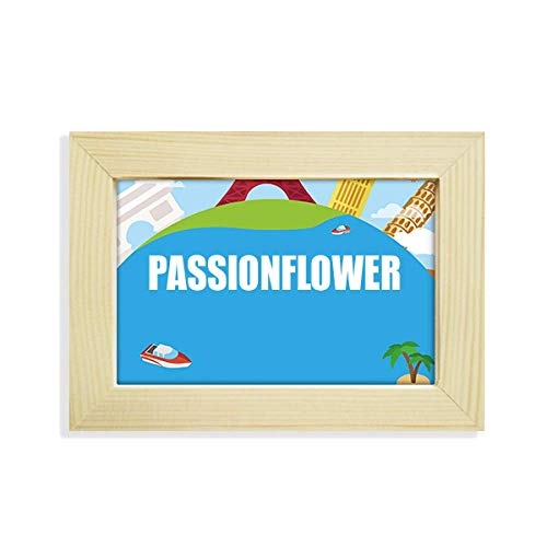 DIYthinker Passionflower Fruit Name Foods Desktop Wooden Photo Frame Travel World Painting