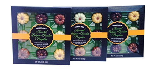 Trader Joes (3) Pack - Assorted Belgian Chocolate (Trader Joe's Halloween Candy)