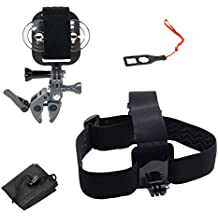 Action Mount - GoPro Style Sportsman's Mount & Head Mount Combo Set for Smartphone or GoPro: Clamp Attaches to Rod, Bow, Shotgun, Paintball and More. Any Phone. Strong Hold. (Grey)