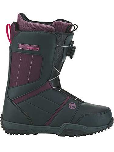Flow Maya Boa Senior Snowboard Boots - Charcoal, Purple