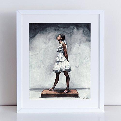 Modern Dancers Costume (Misty Copeland Art Little Dancer Print Ballet Watercolor Ballerina Art Inspirational Ballerina Costume Girls Room Decor Inspiring Art)