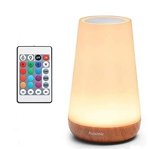 Auxmir Veilleuse LED, Lampe de Chevet Colorée, Lampe Nuit Tactile avec 13 Couleurs Changeantes, Lampe de Table…