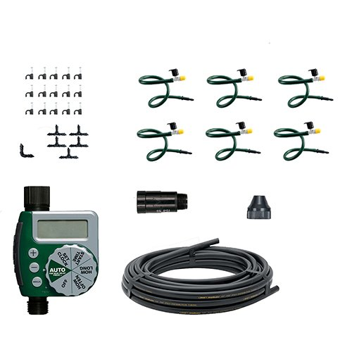 10 Pack - Orbit Hanging Basket Drip Irrigation Watering Kit w/ Hose-End Timer - Micro-Irrigation All-in-One Set - 56318