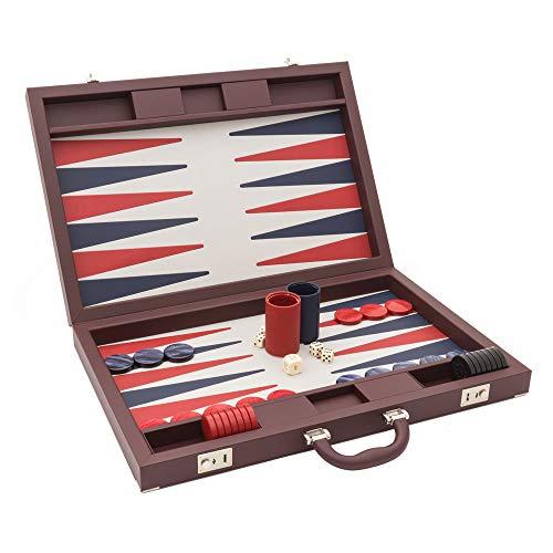 (Regencychess The Dal Negro Luxury Bordeaux Backgammon Set )
