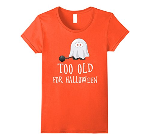 Old Person Couple Costume (Womens Funny sarcastic Halloween tshirt. Grandma grandpa funny gift Medium Orange)