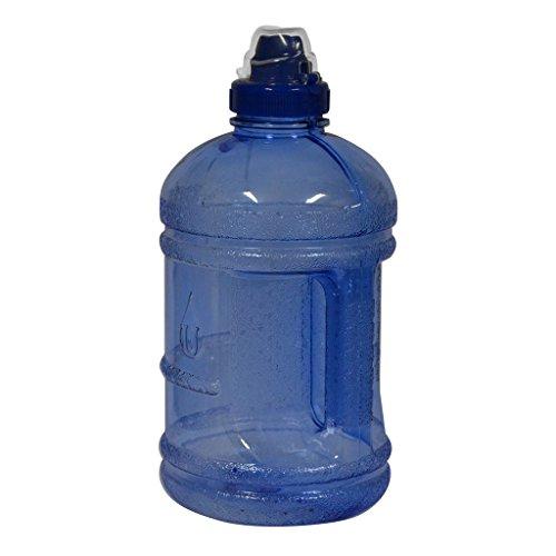 Blue Polycarbonate Water Bottle - 1/2 Gallon (64 oz.) polycarbonate Plastic Water Bottle w/ 48mm Twist Cap - Dark Blue
