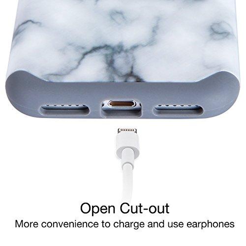 iPhone 7 hülle, Imikoko iPhone 7 hülle Dual Layer Case Cover Hybrid Schild TPU + PC Hard Case Cover für iPhone 7 (Grau)