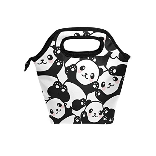 JOYPRINT Lunch Box Bag, Cute Panda Animal Pattern Insulated Cooler Ice Lunchbox Tote Bag Handbag for Men Women Kids Adult Boys Girls by JOYPRINT