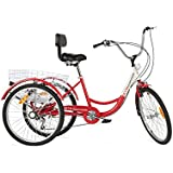 "Komodo Cycling 24"", 6-speed Adult Tricycle #7002 (1 Year Warranty)"