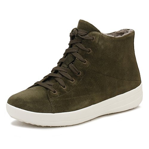 FitFlop Mujer Camouflage Verde F-Sporty SneakerBotas Zapatillas
