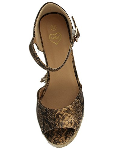 Estampado Vestir Fabs Sintético Sandalias De Mujer Para Serpiente qq1Y6x