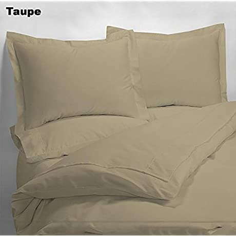 Luxury 600 Thread Counts 7pc Bed In A Bag Full XL Size Taupe Solid 100 Egyptian Cotton By PARADISEHOUSE
