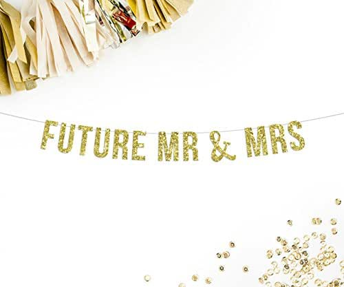 Future Mr & Mrs Party Banner | engagement party photo shoot prop wedding reception decor