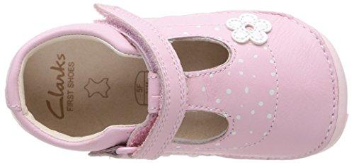 Clarks Little Linzi Mädchen Schnürhalbschuhe Rosa - Rose (Baby Pink)