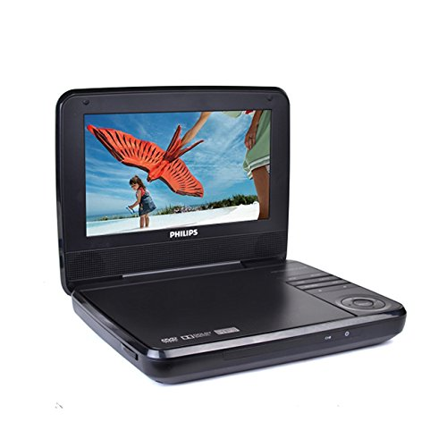 "Philips PET741M BLK 7"" Widescreen LCD Portable DVD Player w/"