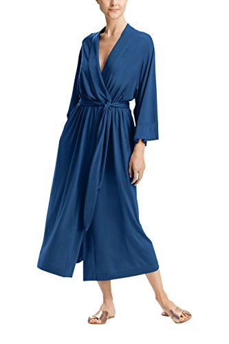 Pure Fiber Soft Bamboo Viscose Robe, Small/Medium, Navy