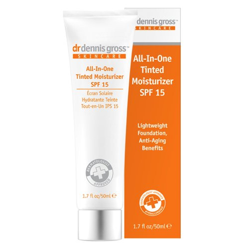 Md Skin Care All In One Tinted Moisturizer Spf 15 - Dr. Dennis Gross Skincare All-In-One Tinted Moisturizer SPF 15, Light, 1.7 fl. oz.